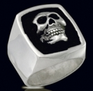 3239 Sterling Silver Phantom Skull Ring