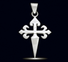 1207 Solid Sterling Silver Order of the Santiago Pendant