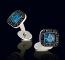 M013-BT Solid Sterling Silver Masonic Cufflinks