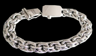 2345h S. Silver Heavy Bracelet Weight 50 grams