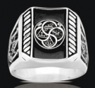 3485 Solid Sterling Silver York Rite Masonic Ring