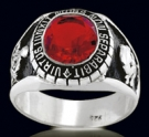 3307-R Sterling Silver Masonic Oval Ring