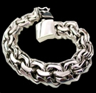 2345t  S. Silver Heavy Bracelet Weight 190 grams