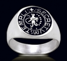 3474 Solid Sterling Silver Knights Templar Abraxas Ring