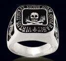 3346 Sterling Silver Skull Masonic Ring