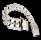 2346U S. Silver Heavy Bracelet Weight 280 grams