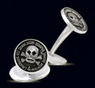 M006 Sterling Silver Masonic Cufflinks