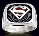 3603B Solid Sterling Silver Superman Ring