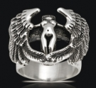 3518 Solid Sterling Silver Gratitude Angel Ring