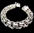 2345 S. Silver Heavy Bracelet Weight 230 grams
