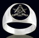 3339 Sterling Silver Masonic Ring