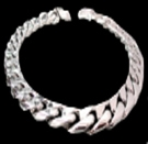 2346N S. Silver Heavy Necklace Weight 350 grams