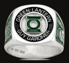 3533 Sterling Silver Earth`s Green Lantern Guy Gardner Ring