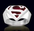 3613R Solid Sterling Silver Superman Ring