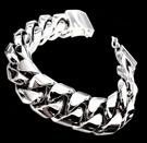 2346Q S. Silver Heavy Bracelet Weight 185 grams