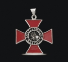 1229 Sterling Silver Knights Templar Cross Pendant