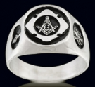 3336 Solid Sterling Silver Masonic Ring