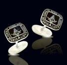 M013  Solid Sterling Silver Masonic Cufflinks