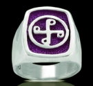 3240v Sterling Silver Phantom Good Mark Ring