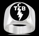 3596 Solid Sterling Silver Elvis Presley TCB Ring