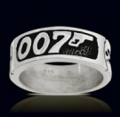 3210 Sterling Silver James Bond 007 Ring