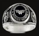 3437 Sterling Silver Justice League Wonder Woman Ring