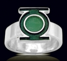 3601B Solid Sterling Silver Green Lantern Ring