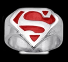 3613CR Sterling silver superman ring.