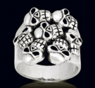 3458 Solid Sterling Silver Legion s Skull Ring