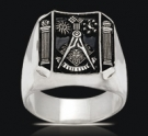 3513 Sterling Silver Past Master Masonic Ring