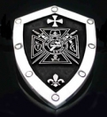 1228 Sterling Silver In Hoc Signo Vinces Shield Pendant