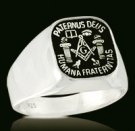 3355 Sterling Silver Paternus Deus Masonic Ring