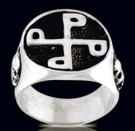 3188 Sterling Silver Phantom Good Mark Ring