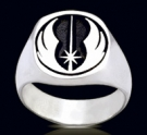 3471 Solid Sterling Silver Star Wars Jedi Ring