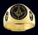 3306-GP Solid Sterling Silver 18K Gold Plated Masonic Ring