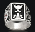 3517 Sterling Silver Knights Templar Grial Ring
